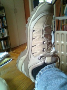 Shoe. Yes, very beige.