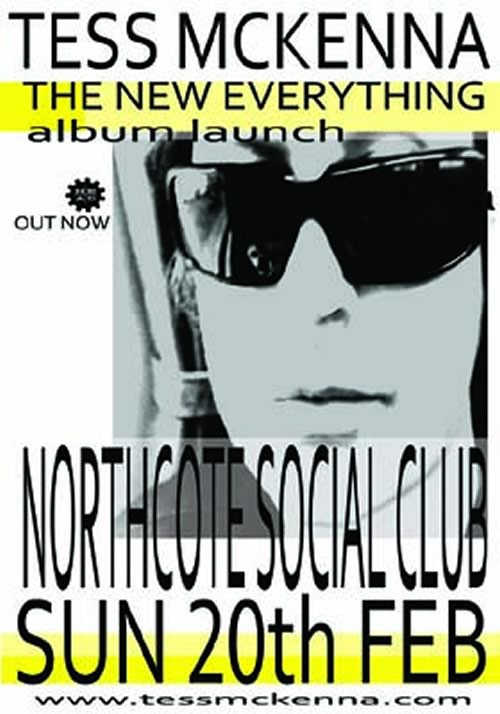 Tess McKenna at the Northcote Social Club, 20 February 2011 - Poster