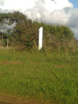 The White Post which the Tallest Tree would stretch to if it still existed and it was cut down (again).