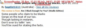 Racist limerick on Anita Heiss's Amazon page